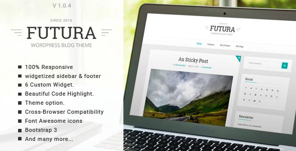 Futura - Responsive Minimal Blog Theme - Personal Blog / Magazine
