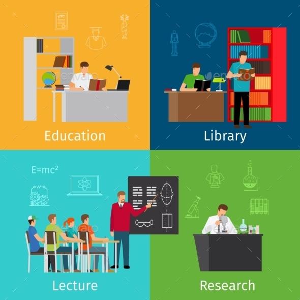 Education Concepts - Miscellaneous Vectors