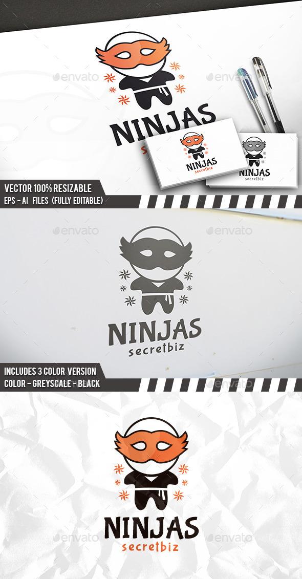 Ninja Party Logo - Humans Logo Templates