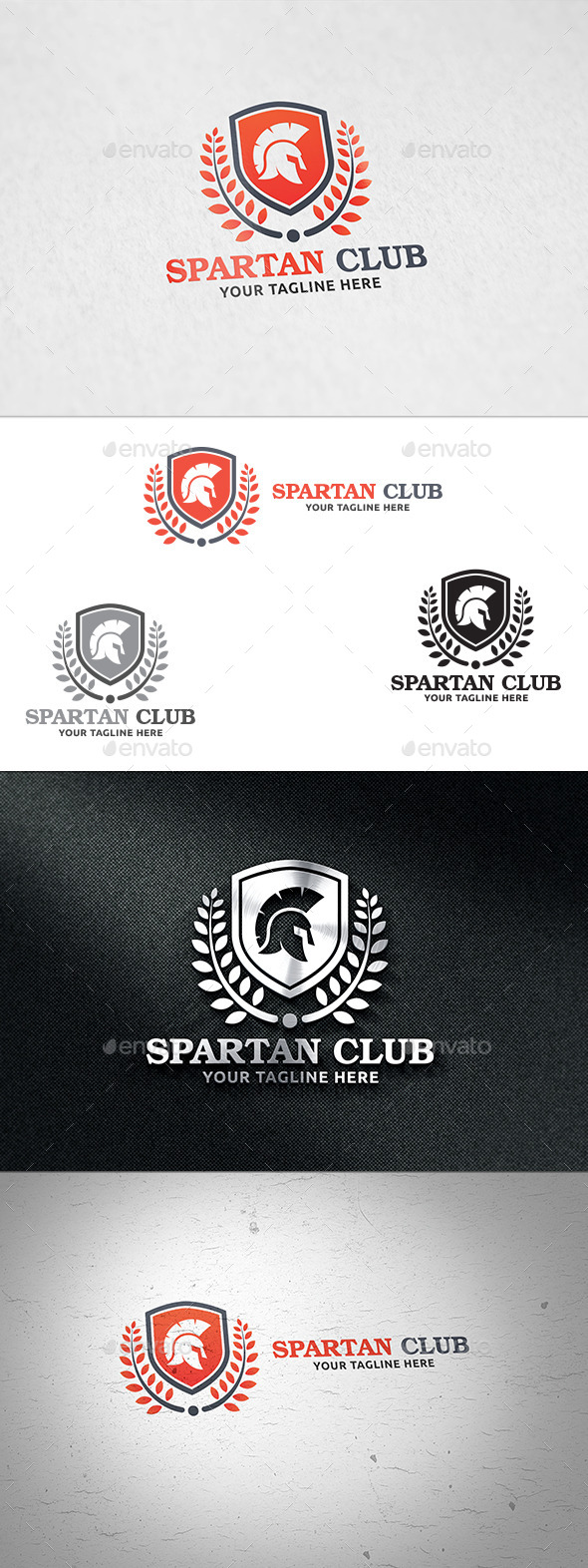 Spartan Club - Logo Template - Crests Logo Templates