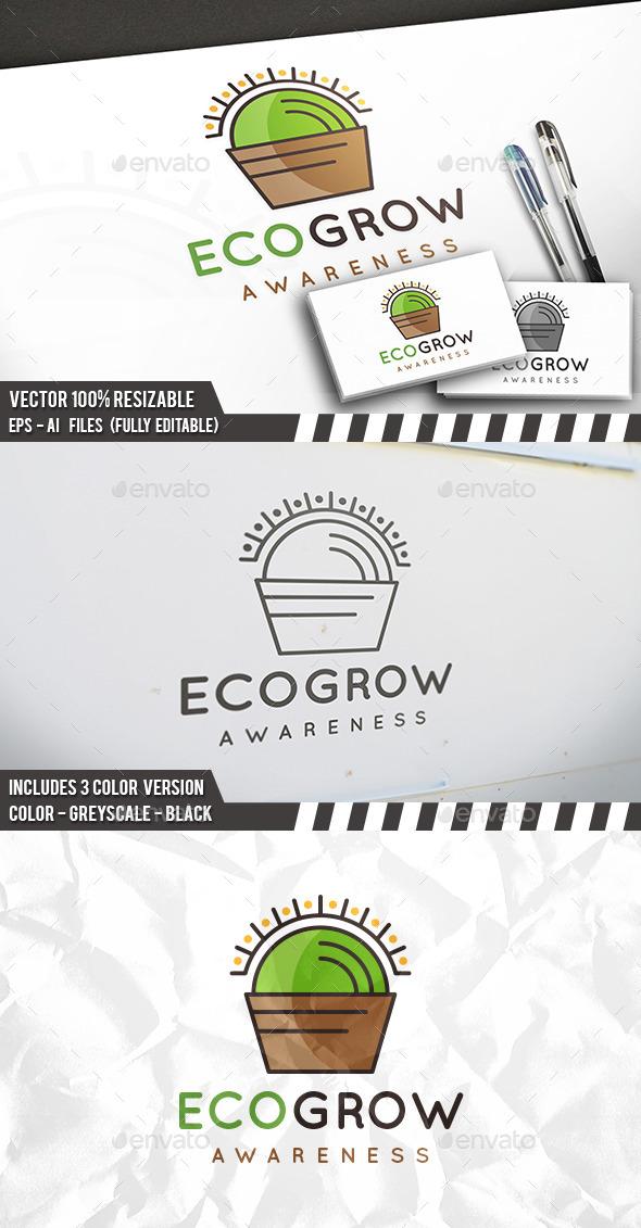 Eco Grow Logo - Nature Logo Templates