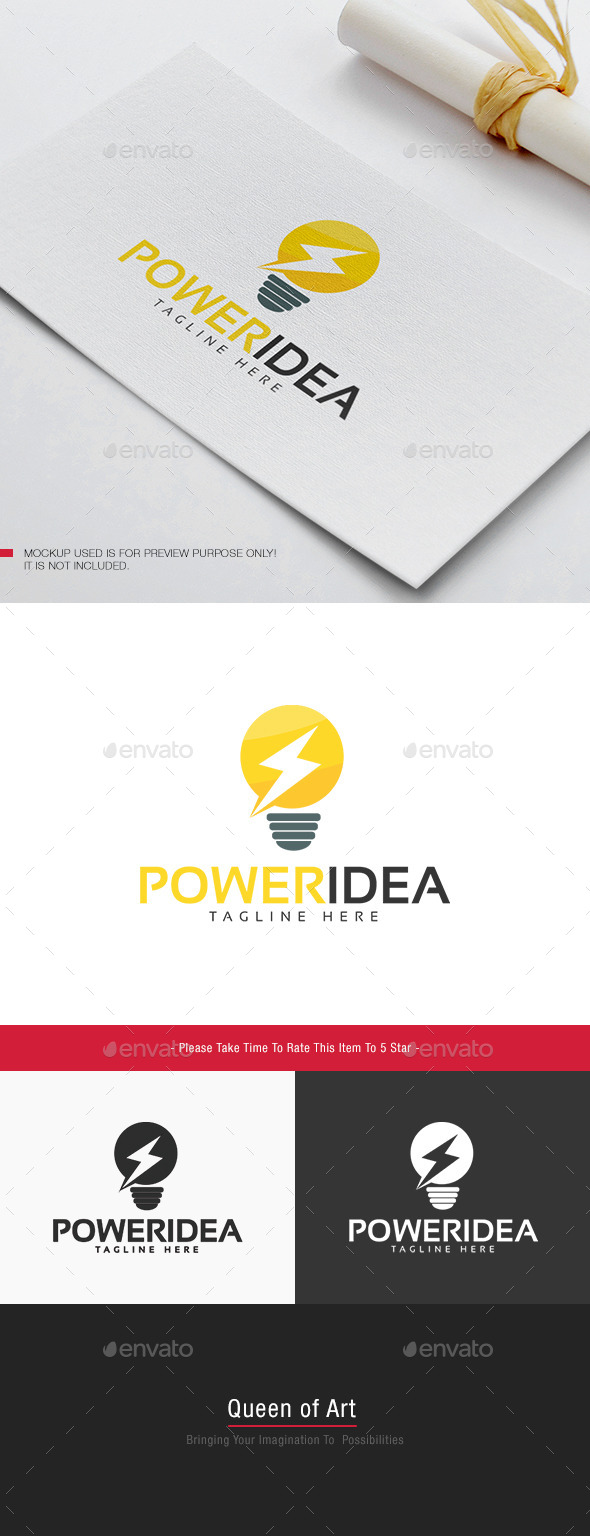 Power Idea Logo - Objects Logo Templates