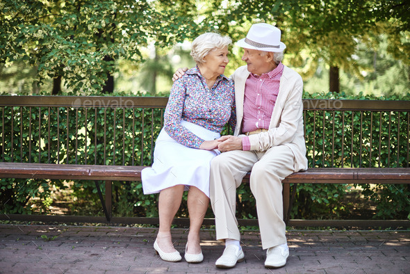 Affectionate seniors - Stock Photo - Images