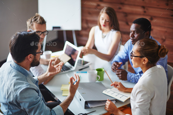 Discussing ideas - Stock Photo - Images