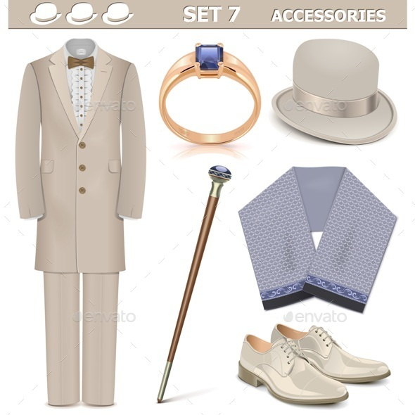 Male Accessories Set 7 - Retail Commercial / Shopping