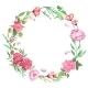 Shabby Chic Floral Wreath - GraphicRiver Item for Sale