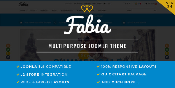 Fabia - Responsive ECommerce Theme for J2Store - Miscellaneous Joomla