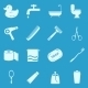 Vector Set Of Bathroom And Hygiene Icons.