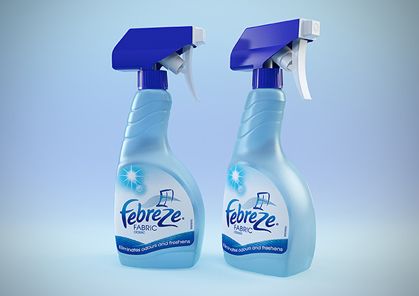 Febreze bottles - C4D & VRay - 3DOcean Item for Sale