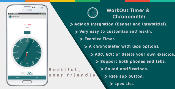 Workout Timer And Chronometer - 2 IN 1 - CodeCanyon Item for Sale