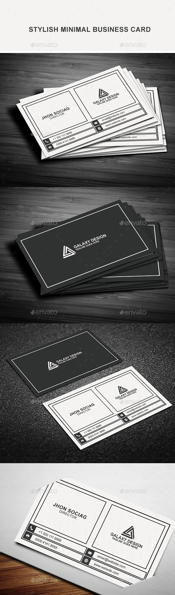 Stylish Minimal Business Card - Creative Business Cards