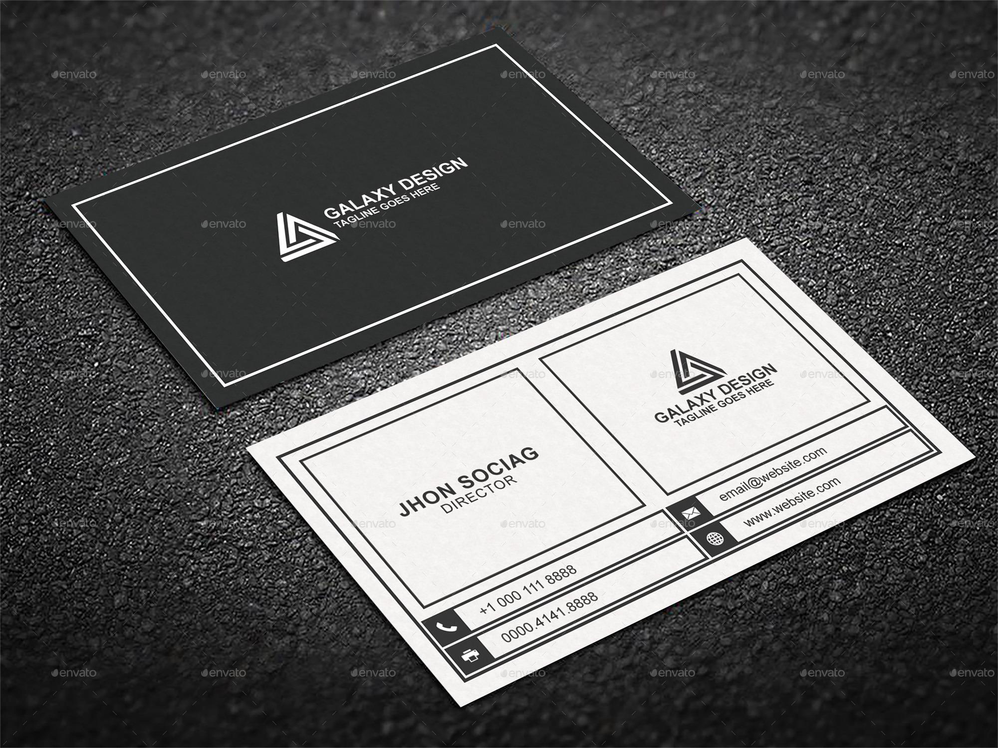 Stylish Minimal Business Card by Labib- | GraphicRiver