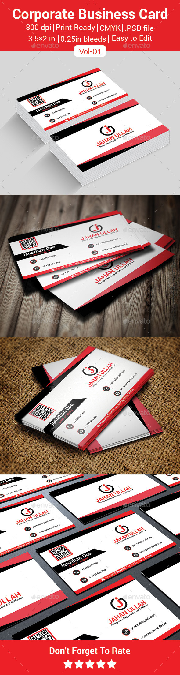 Corporate Business Card Vol-01 - Business Cards Print Templates