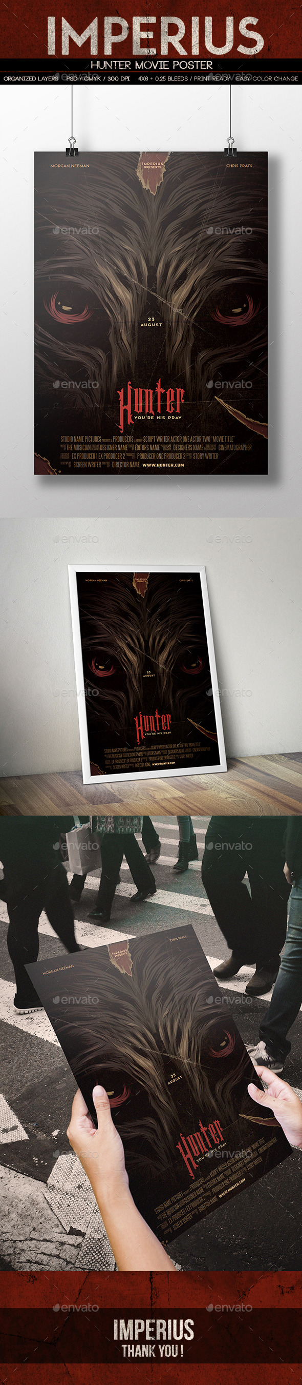 Hunter Movie Poster - Miscellaneous Print Templates