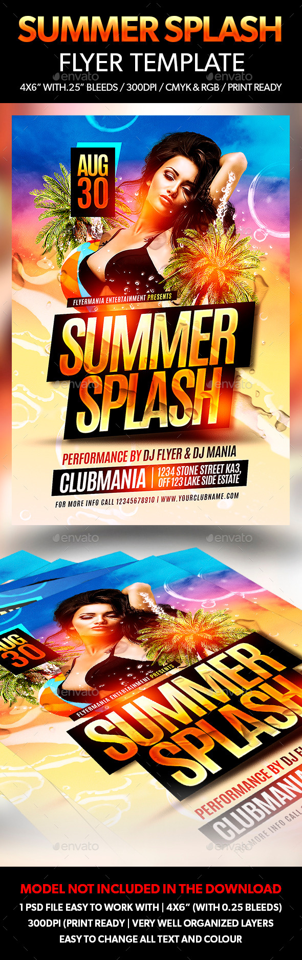 Summer Splash Flyer Template - Flyers Print Templates