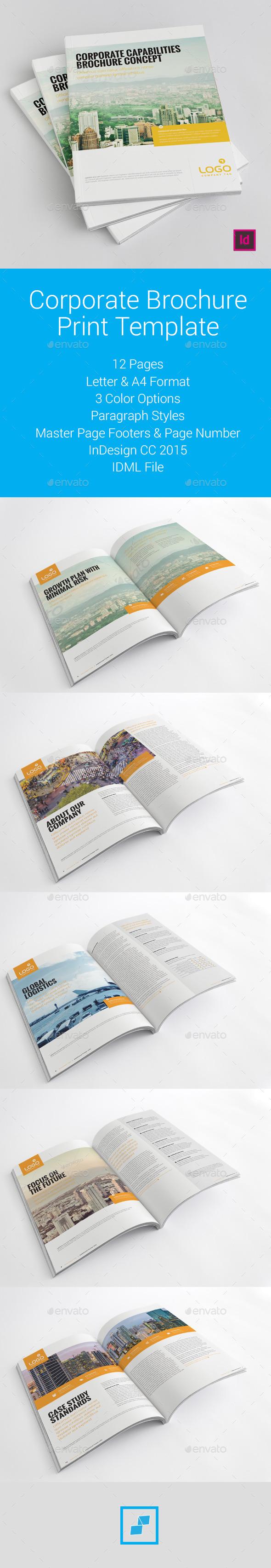 Corporate Brochure Print Template - Corporate Brochures