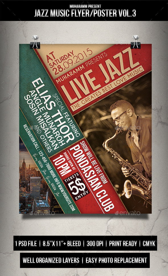Jazz Music Flyer / Poster Vol.3 - Events Flyers