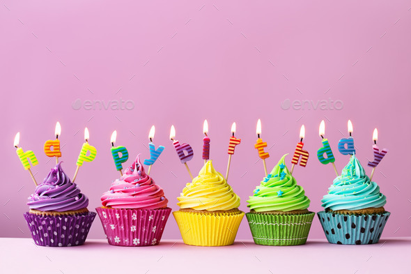 Astonishing Happy Birthday Cupcakes Stock Photo By Ruthblack Photodune Funny Birthday Cards Online Eattedamsfinfo