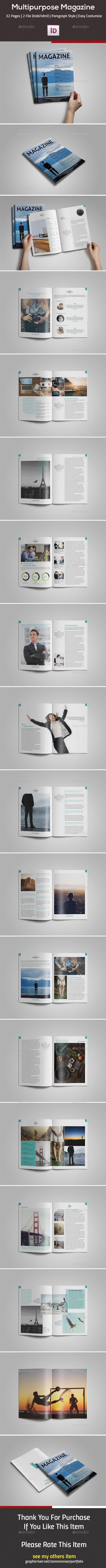 Multipurpose InDesign Magazine - Magazines Print Templates