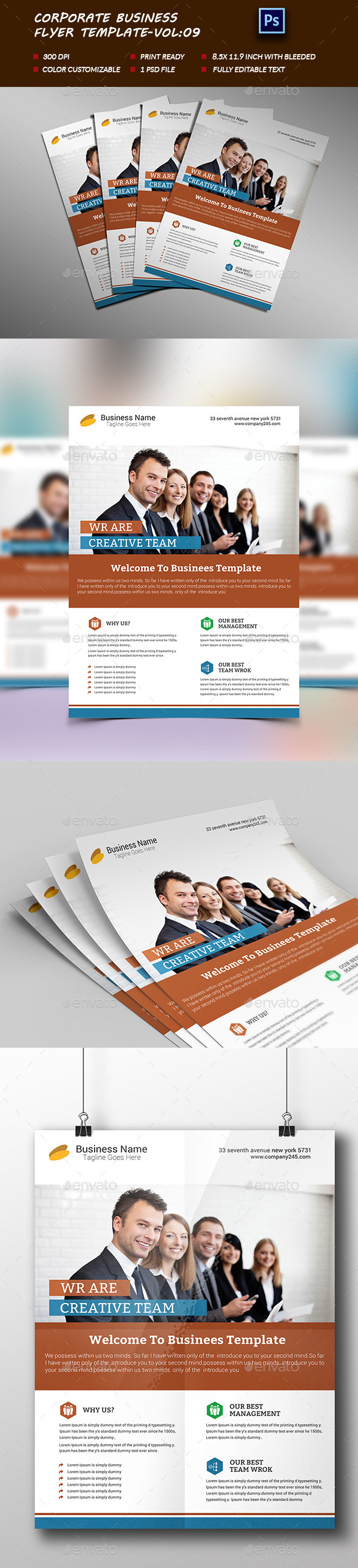 Corporate Business Flyer Template vol:09 - Corporate Flyers