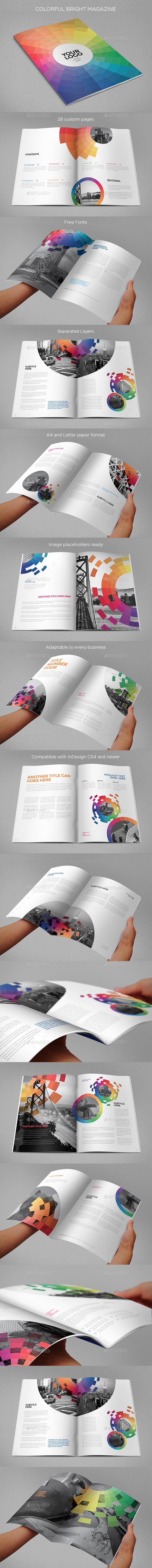 Colorful Bright Magazine - Magazines Print Templates