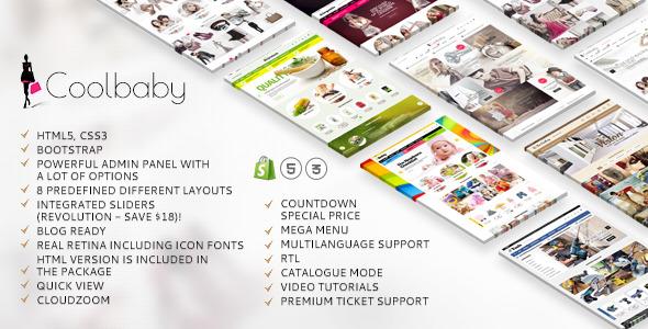coolbaby shopify responsive original theme by etheme