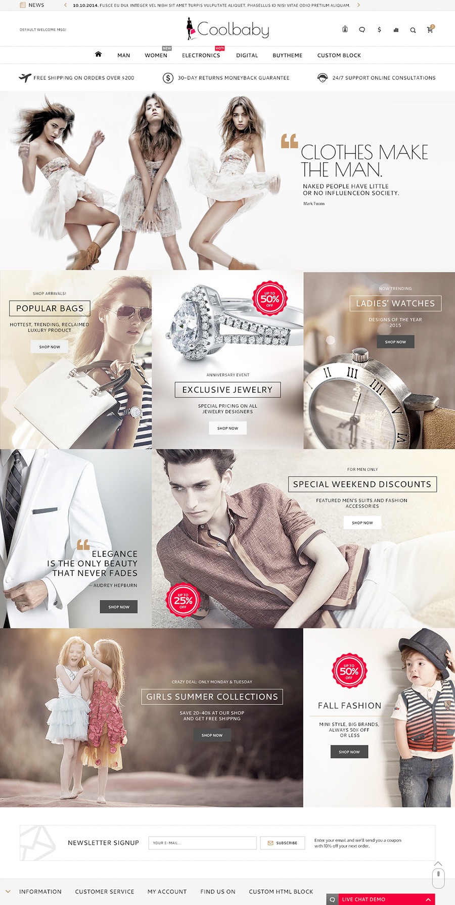 coolbaby shopify responsive original theme by etheme