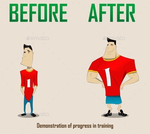 Illustration of Sportsmen - Sports/Activity Conceptual