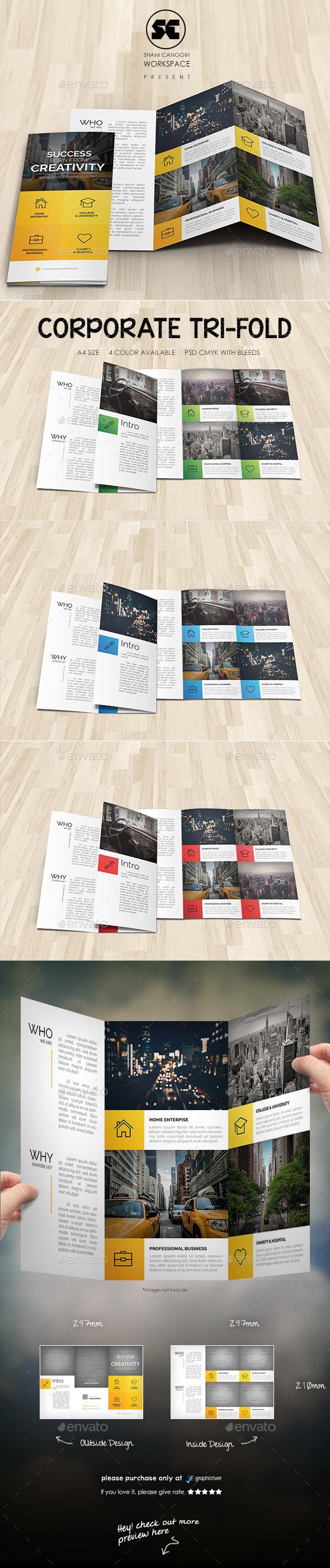 Modern Corporate Tri-fold - Corporate Brochures