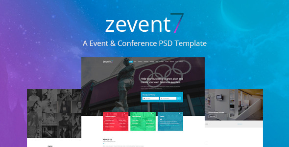 Zevent – Conference & Event PSD Template