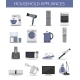 Set of Household Appliances and Electronic Devices - GraphicRiver Item for Sale