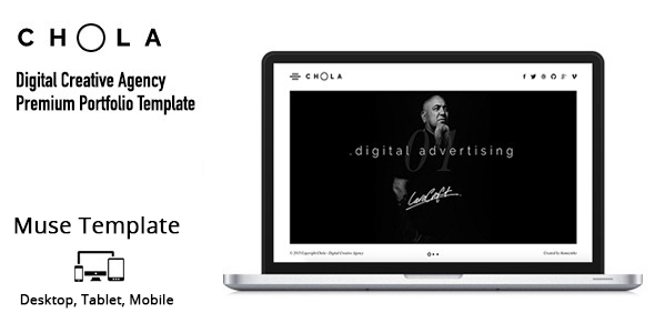 CHOLA – Digital Creative Agency Muse Template