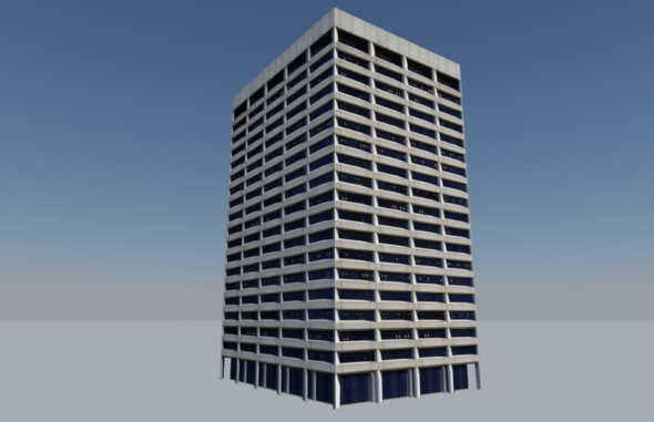 Low Poly Building - Portland Federal Courthouse - 3DOcean Item for Sale