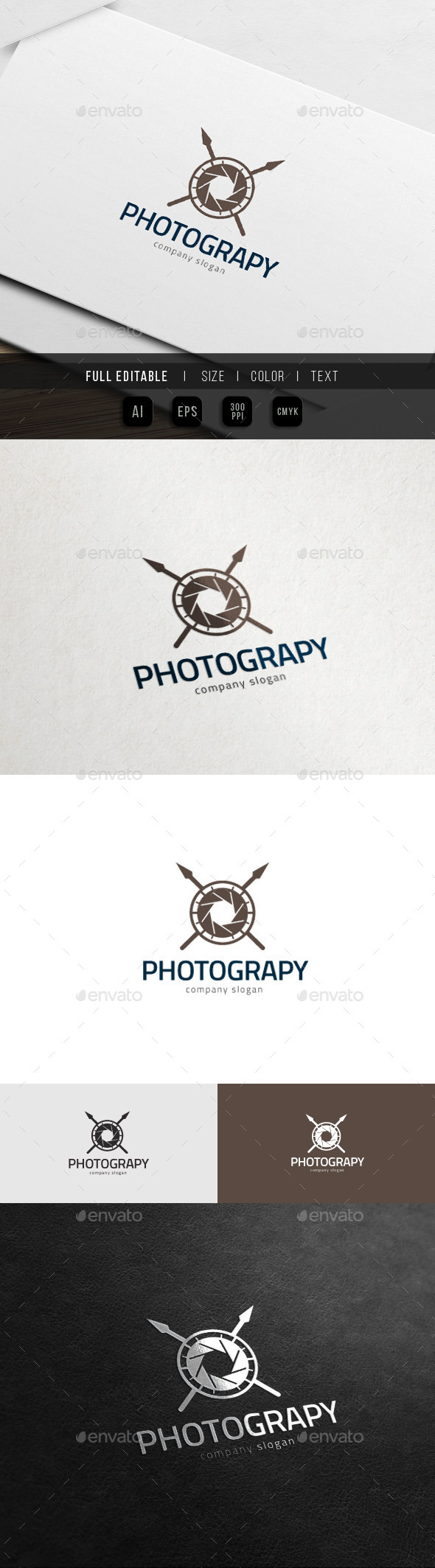 Camera War - Action Photography Logo - Objects Logo Templates