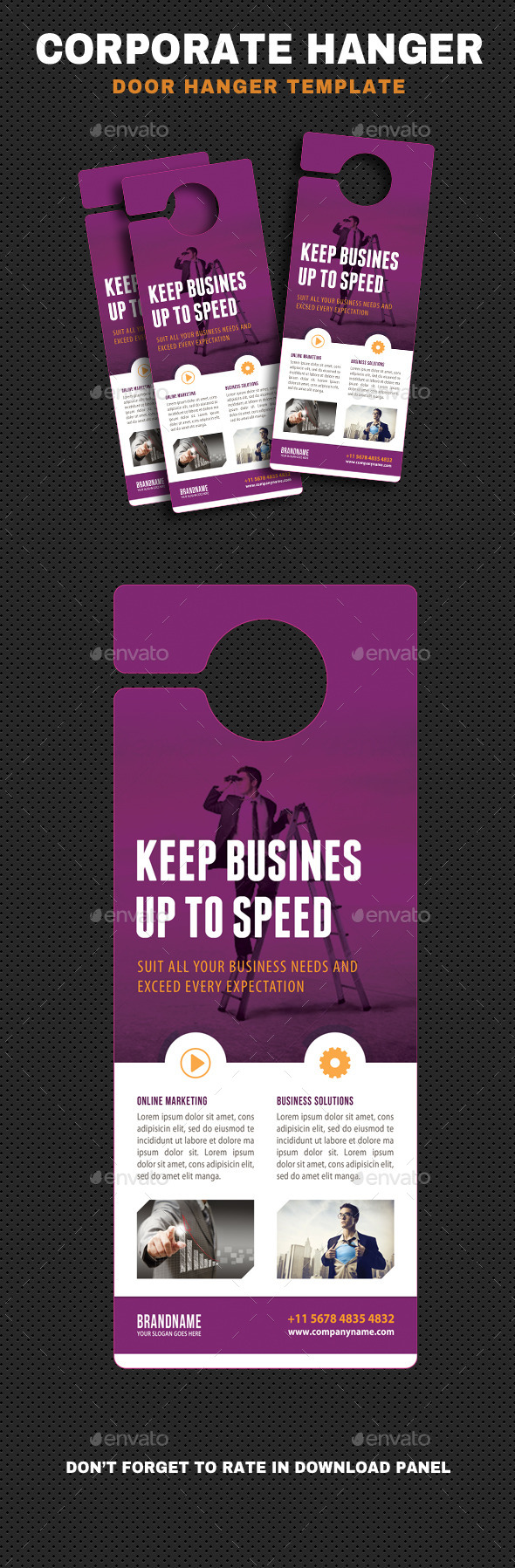 Corporate Door Hangers V08 - Miscellaneous Print Templates