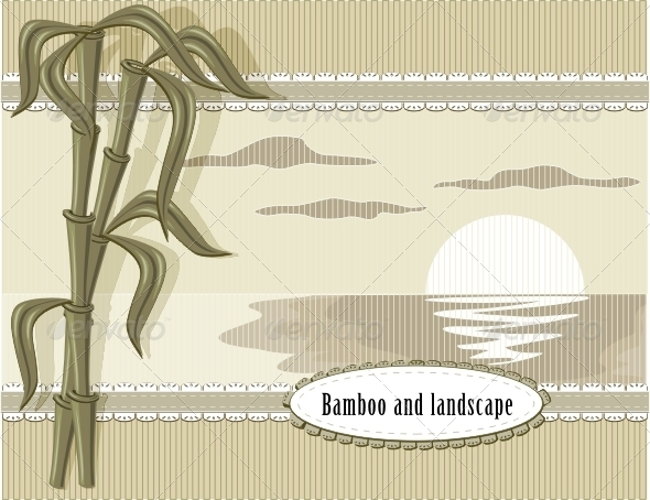 Bamboo and Landscape - Backgrounds Decorative