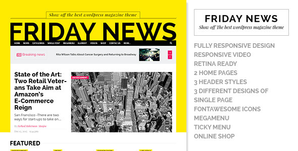 Friday News – HTML5 template