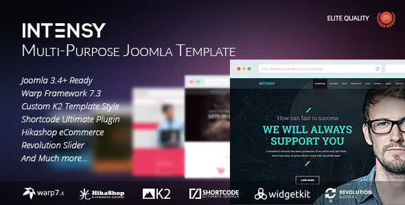 Intensy – Multipurpose Joomla Template