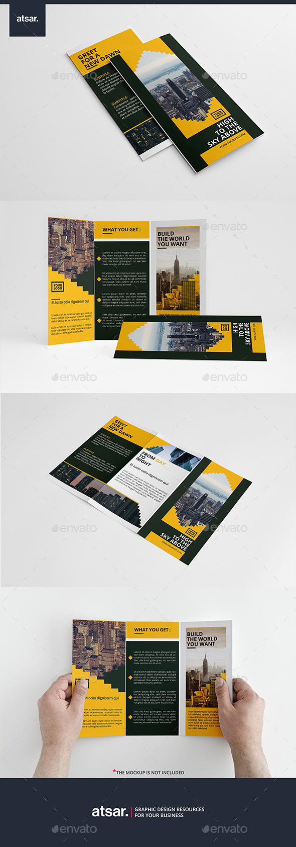 Yellow Bar Trifold - Corporate Brochures