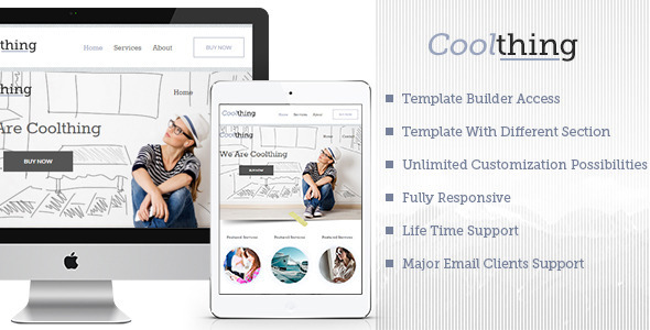 Cool Multipurpose Email Template + Builder Access
