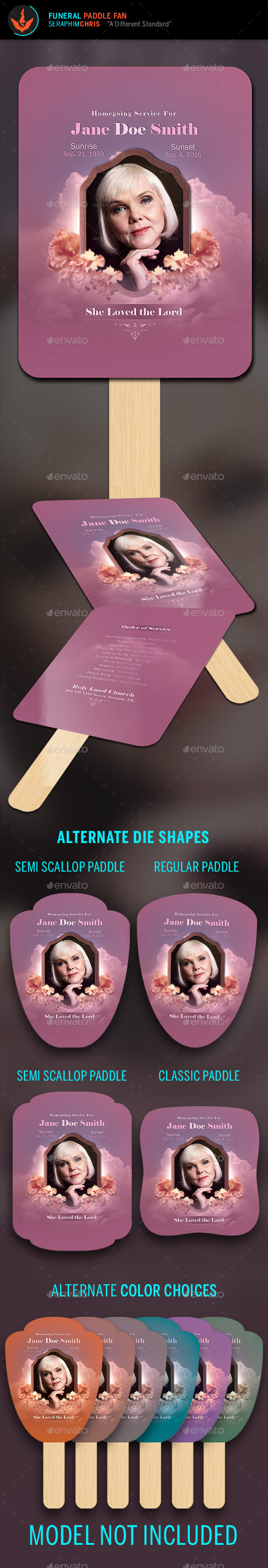 Funeral Paddle Fan Template - Miscellaneous Print Templates