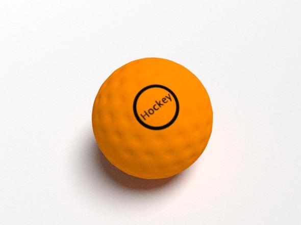 Hockey Stick And Ball By Cbajaj 3docean