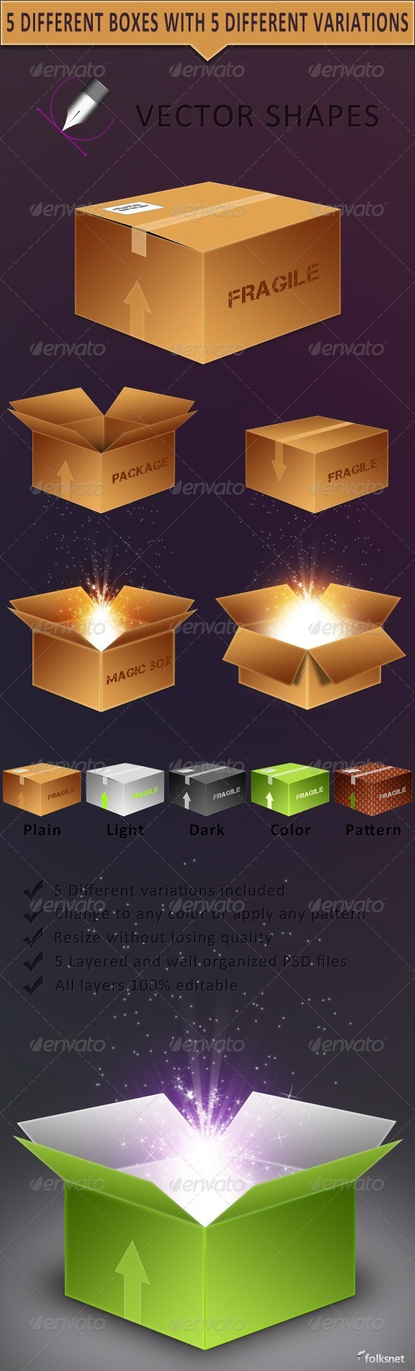 Vector Boxes - Miscellaneous Graphics
