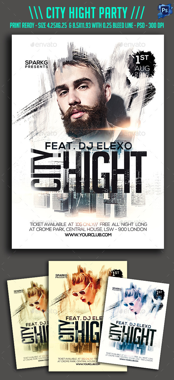 City Hight Party Flyer - Clubs & Parties Events