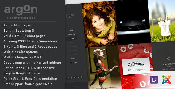 Argon – Creative Joomla Portfolio & Blog