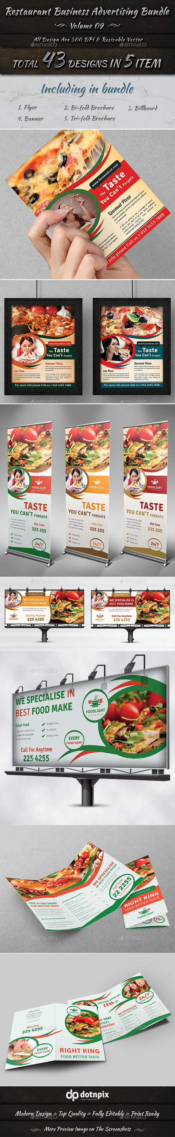 Restaurant Business Advertising Bundle | Volume 9 - Restaurant Flyers