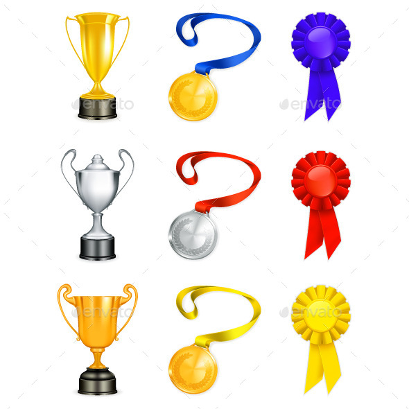 Trophies Icons - Man-made Objects Objects