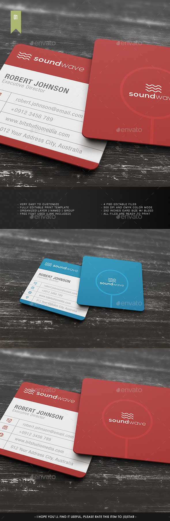 Square Business Card V.001