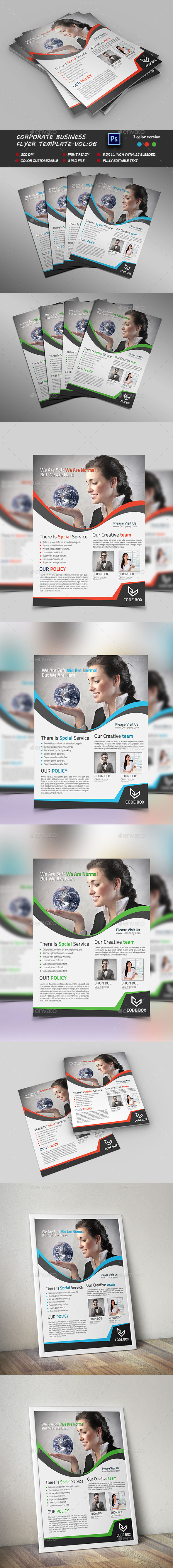 Corporate business Flyer Template vol:06 - Corporate Flyers