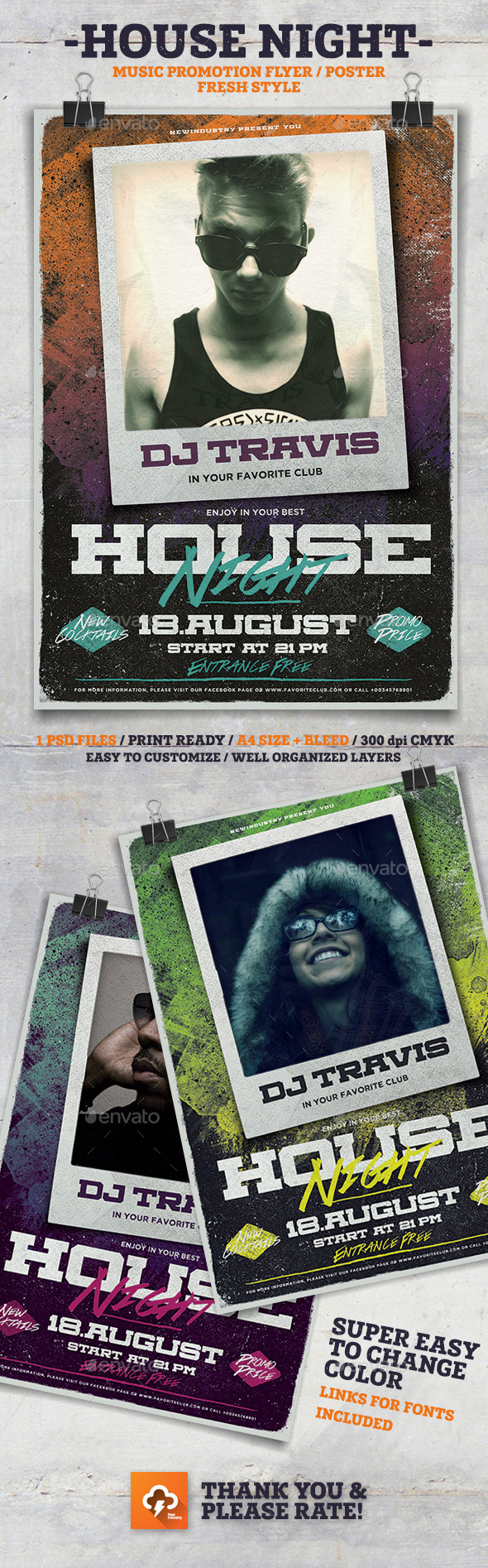 House Night Poster Flyer